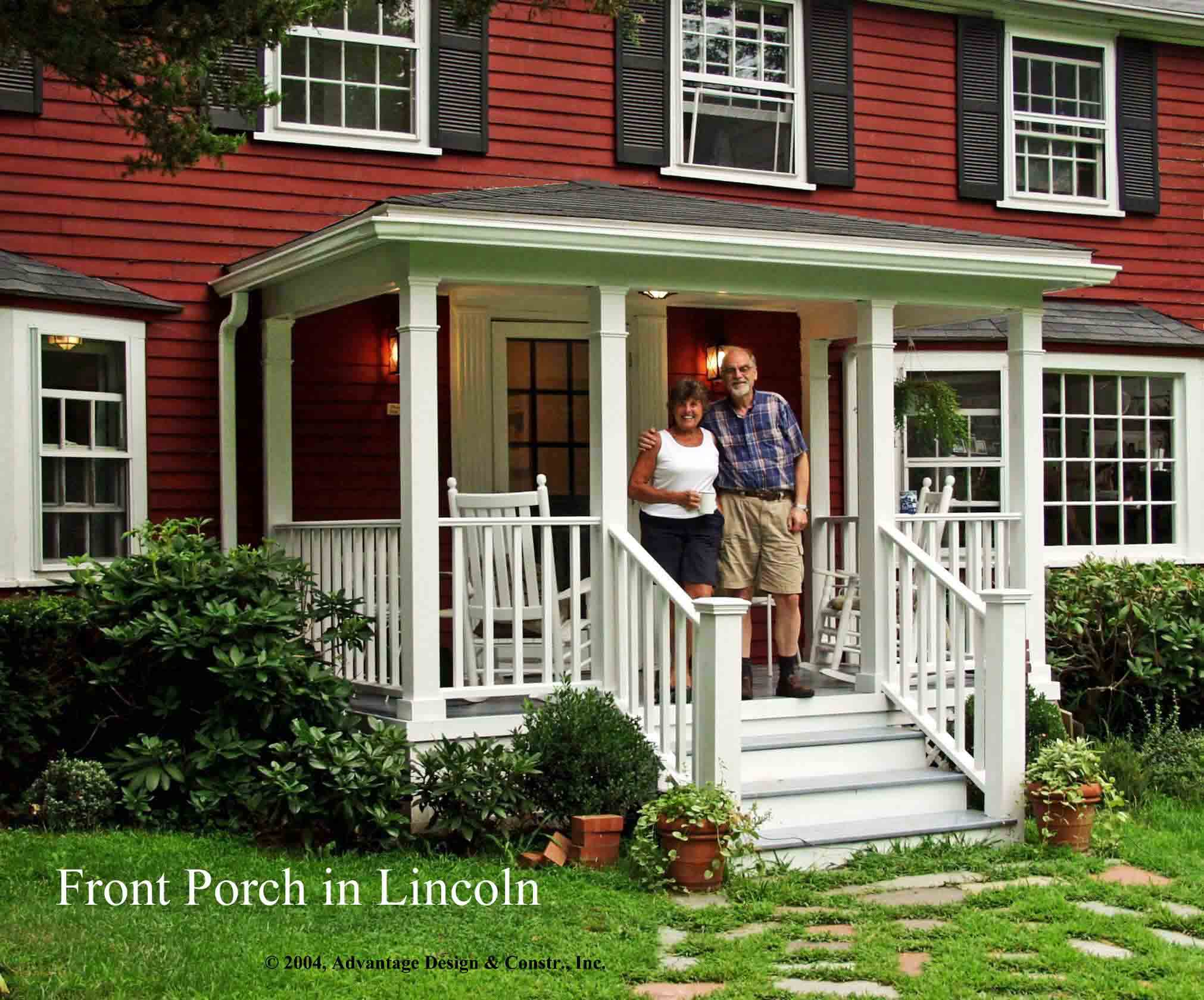 Front porches a pictorial essay suburban boston decks for House porch