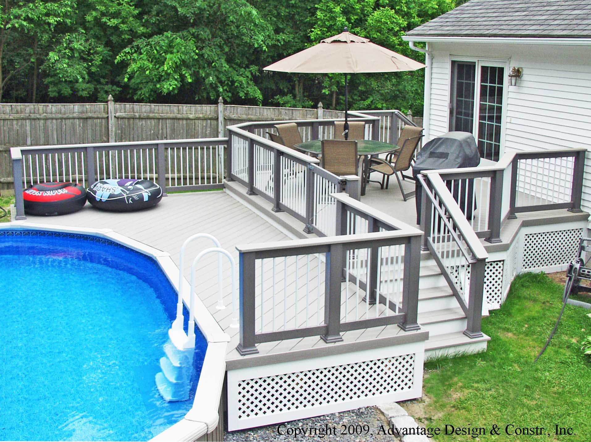 A pool deck solution suburban boston decks and porches blog for Small house deck designs
