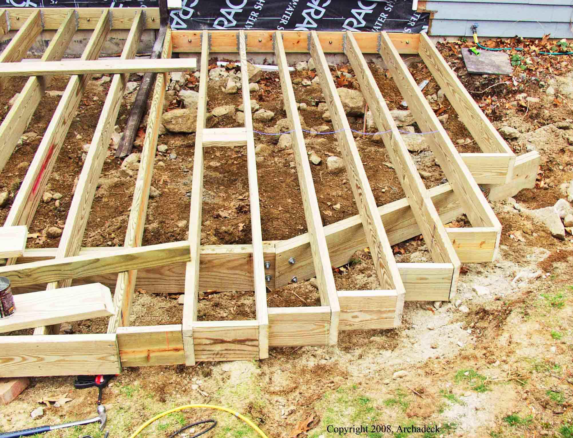 Wood decks cost of wood decks for Decking framework timber