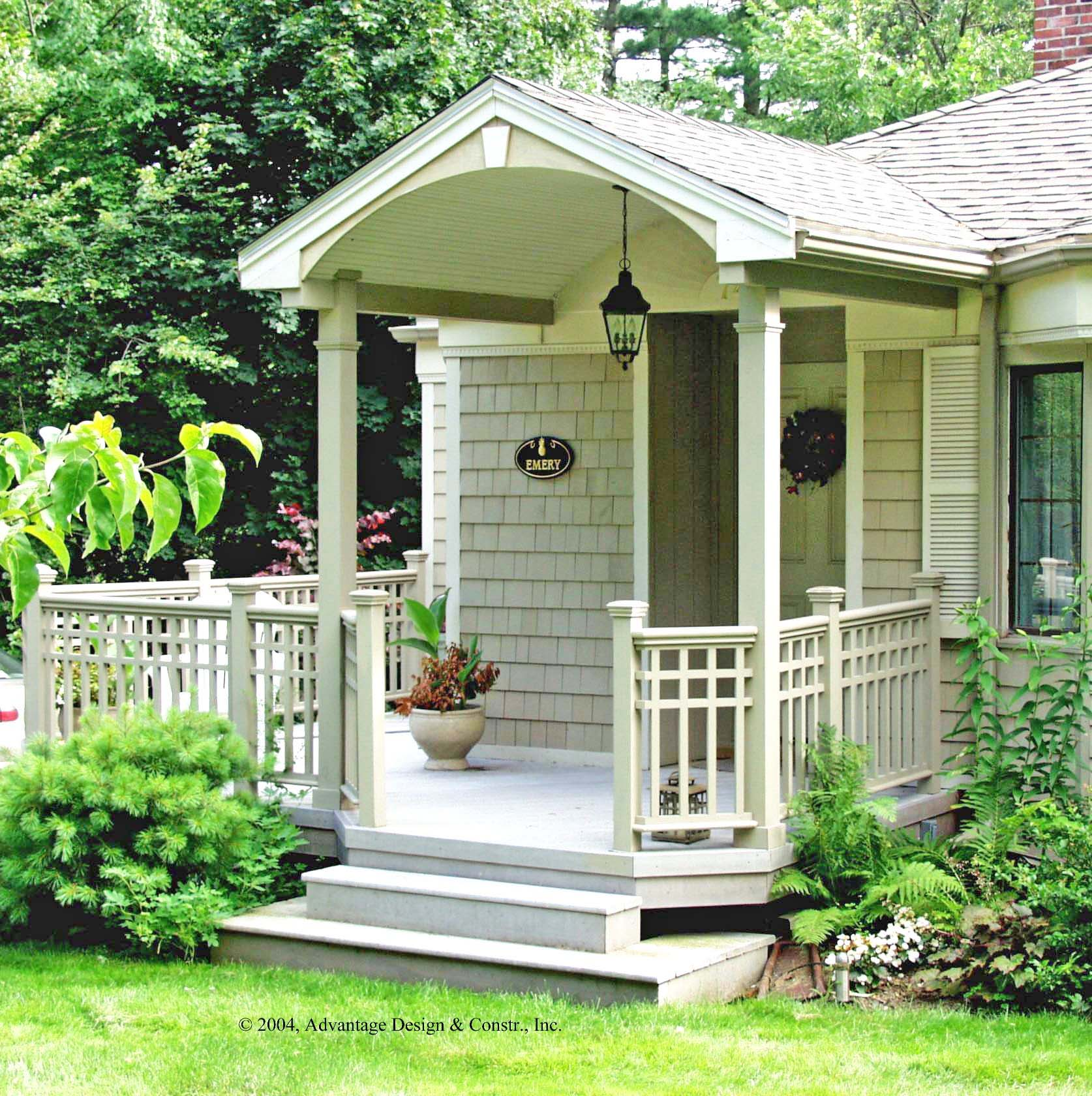 Front porches a pictorial essay suburban boston decks for Small house design with roof deck