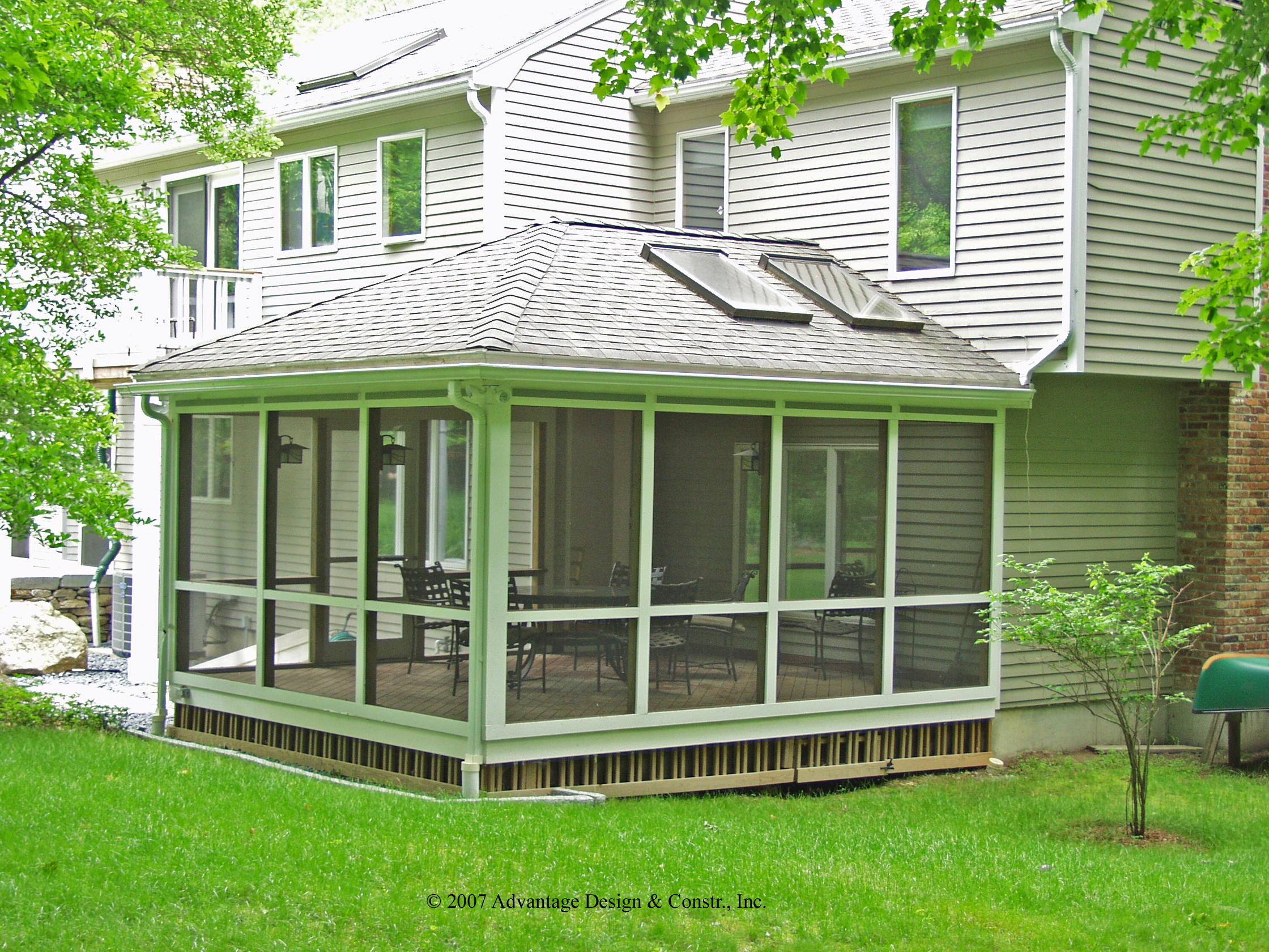 Six kinds of porches for your home suburban boston decks for Hip roof porch addition