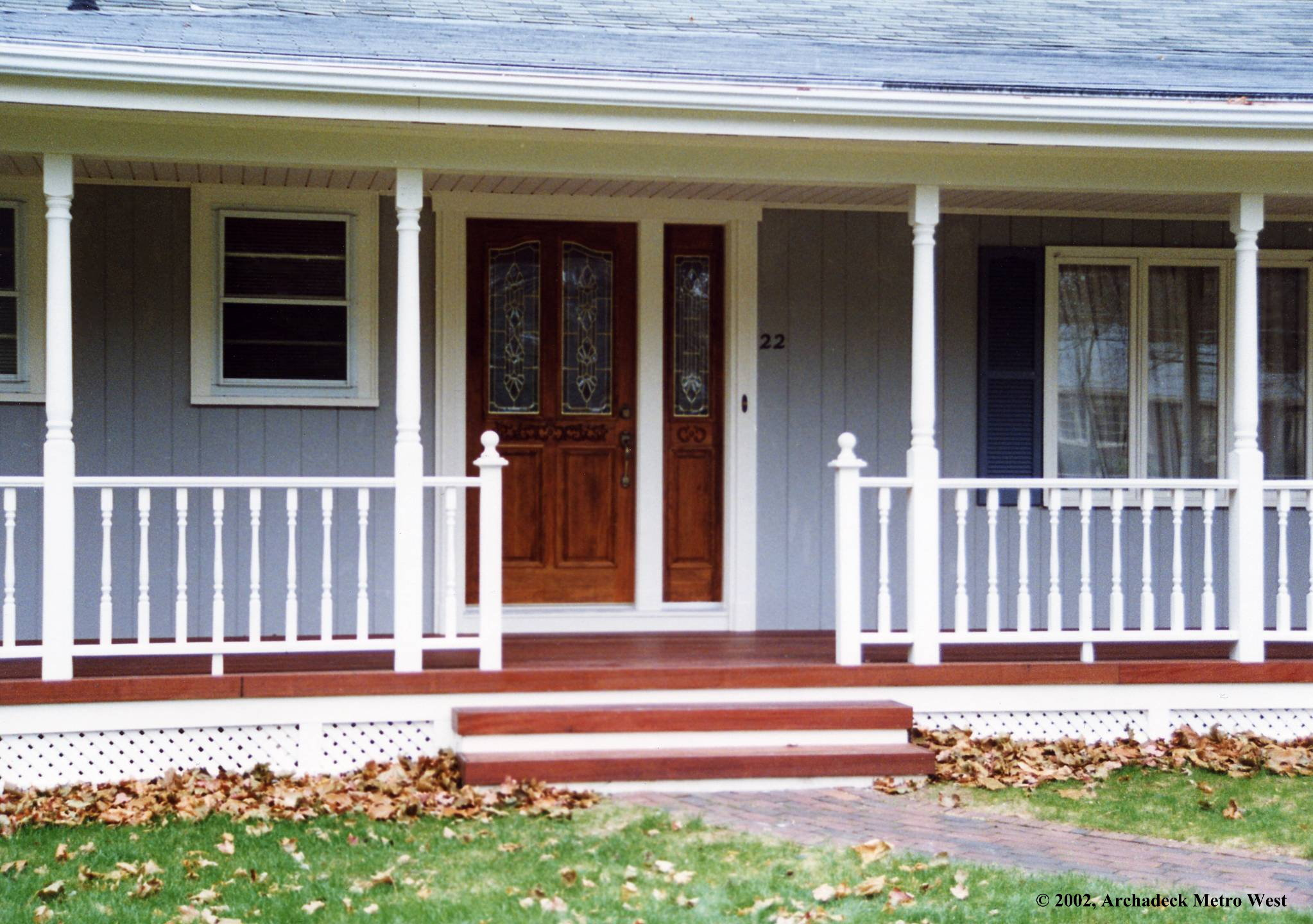 Six kinds of porches for your home suburban boston decks for Front porch patio designs