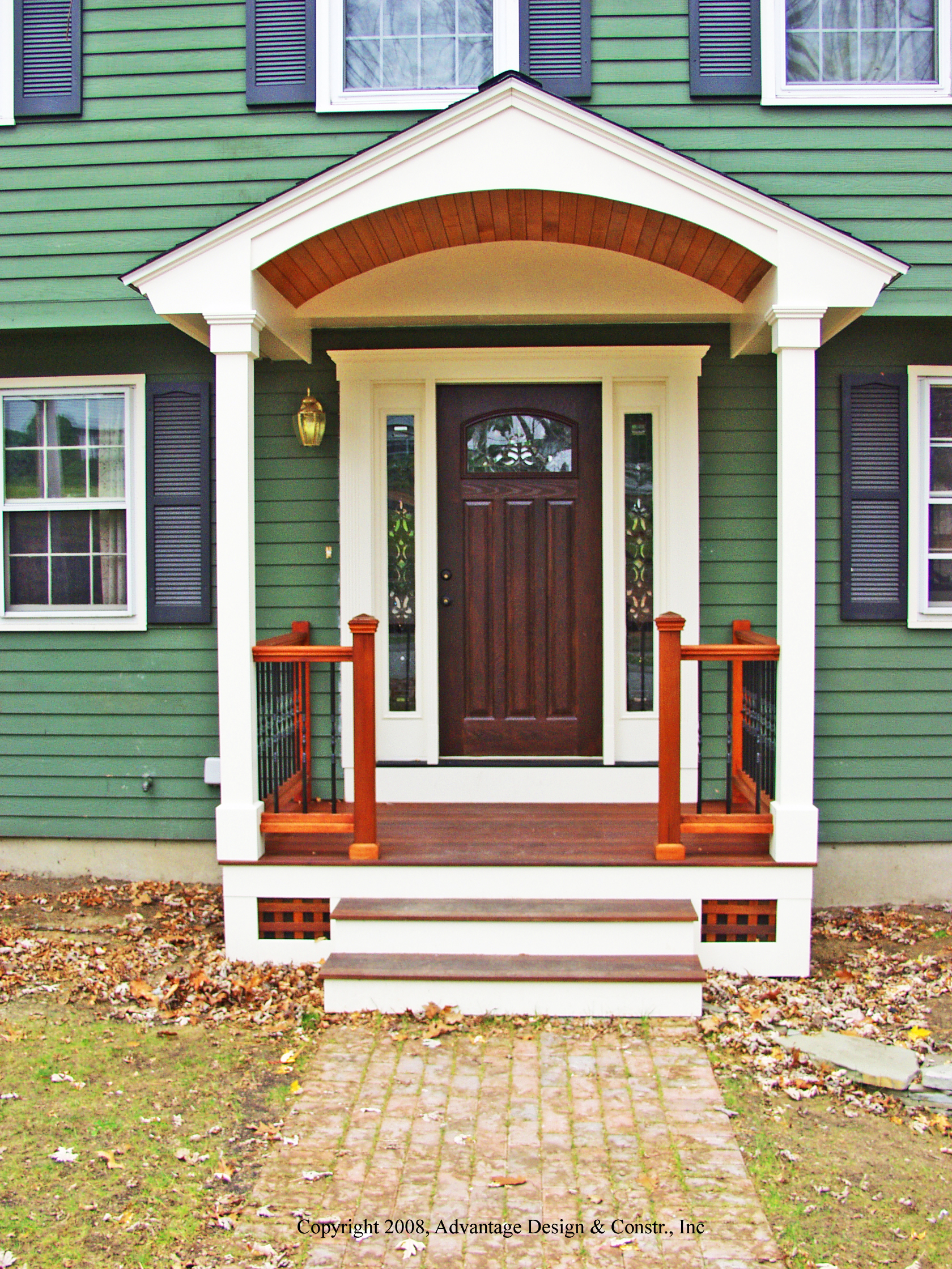 Six kinds of porches for your home suburban boston decks for Front entry decks