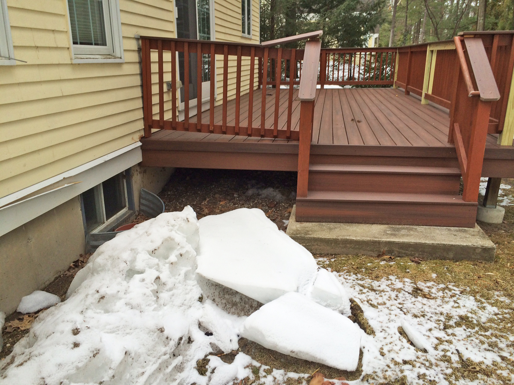 will snow damage my deck this winter tips for clearing snow from