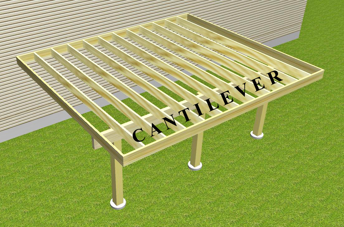 Cantilevered Deck Frame Suburban Boston Decks And