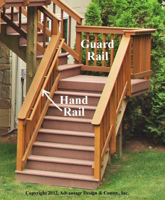 Stairs on deck in Sudbury, MA - Suburban Boston Decks and ...