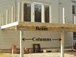 Deck Beam and Columns