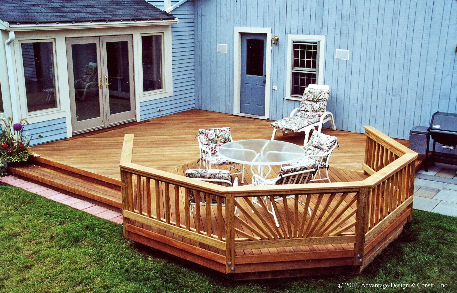 Choosing a deck or a patio suburban boston decks and for Backyard deck pictures