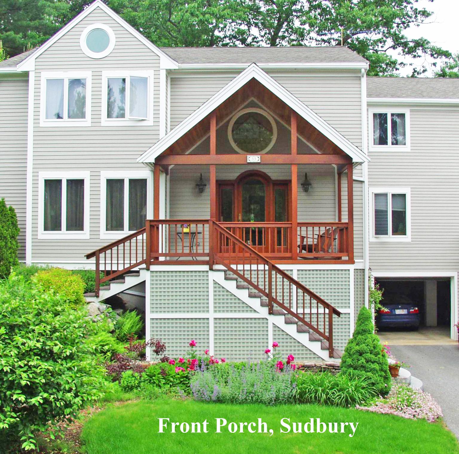 Front porches a pictoral essay suburban boston decks for Www porches com