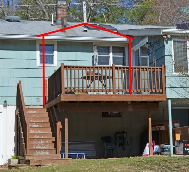 Want to convert your deck to a porch suburban boston for Building an entryway addition