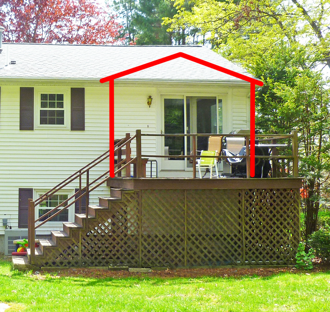 Want to convert your deck to a porch suburban boston for Screened sunroom