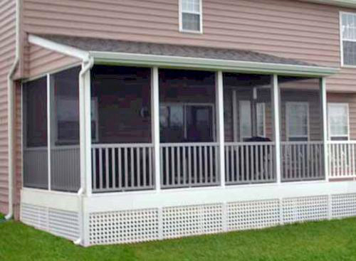 Want to convert your deck to a porch suburban boston for Shed roof screened porch plans