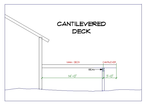 17 ft Cantilevered Deck