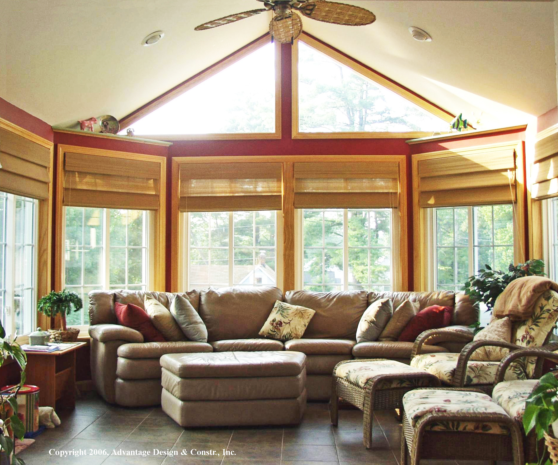 What is a cathedral ceiling and why would your porch or for Porch sunroom