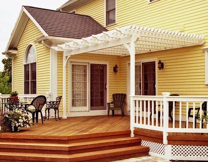 Pergola on Yellow house