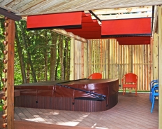Pergola with Canopy over hot tub