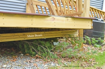 Collapsed deck beam